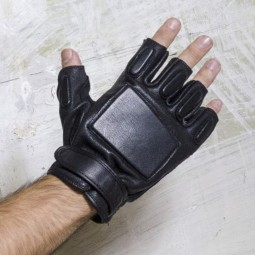 Leather Combat Fingerless...