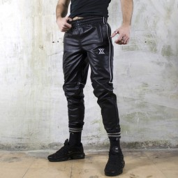 Leather Track Pant - White...
