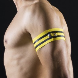 Rubber armband - Yellow/Black