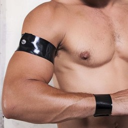 Rubber armband - black