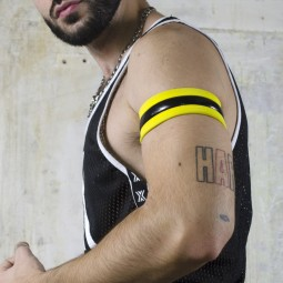 FUTUR Armband - black/yellow