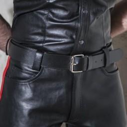4cm Classic leather belt