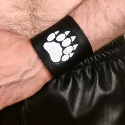 Leather Wristband, Bear 6cm
