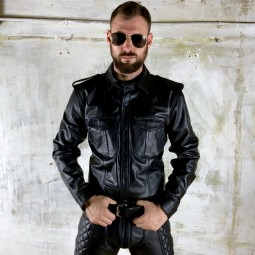 Leather Uniform Shirt Long...
