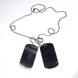 Army steel/black tags -...