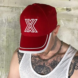 X- Baseball Cap Red/White X