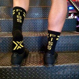 Skater Socks black/yellow -...