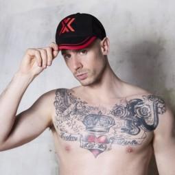 X- Baseball Cap Black/ Red X