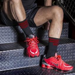 BXR Tennis sox - black/red