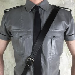 Leather Uniform Shirt -...