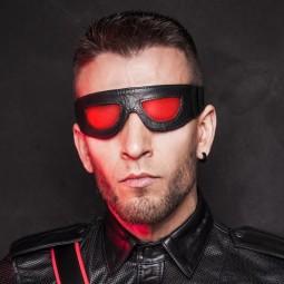 Leather closed eye mask