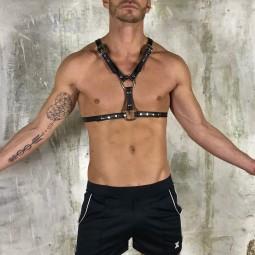 Elegant mega leather harness