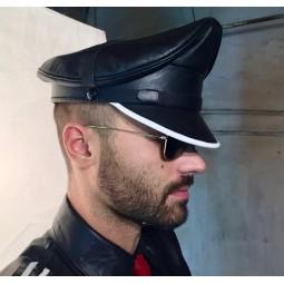 Leather Man Cap - White trim
