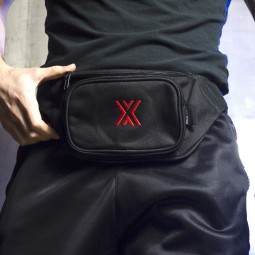 BUM BAG - BLACK / RED x