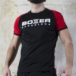 Football Shirt - Black/Red