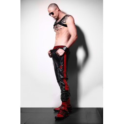Leather Track Pant - Red...