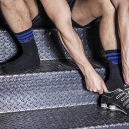 BXR Tennis sox - black/blue