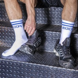 BXR Tennis sox - White/Blue