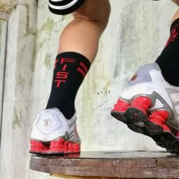 Skater Socks black/red - FIST