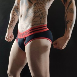 Y front - Black with red...
