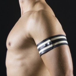 Rubber armband - White/Black
