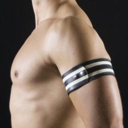 Rubber armband - White/Black