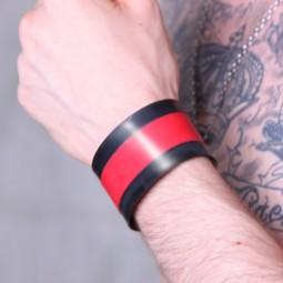 Rubber wristband - red stripe