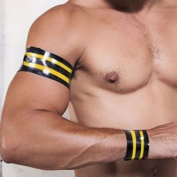 Rubber armband - black/yellow