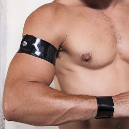 Rubber wristband - black