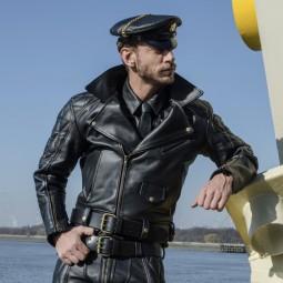Vintage Leather Biker...