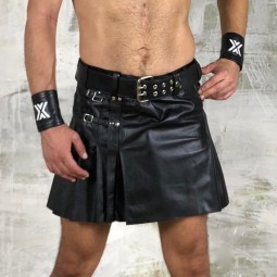 Leather Mini Kilt