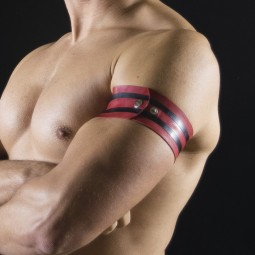 Rubber armband - Red/Black