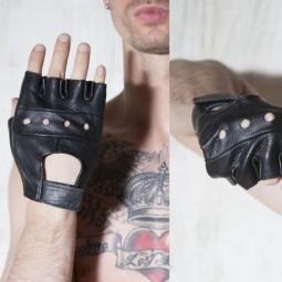 Biker Fingerless Gloves